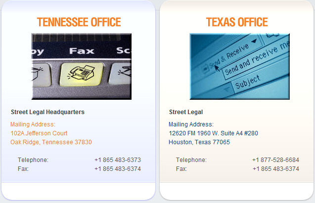 Tennessee and Texas Office Contact Information